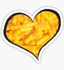 Mac N Cheese Heart Sticker