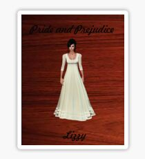 Lizzy Bennet from Pride and Prejudice Sticker