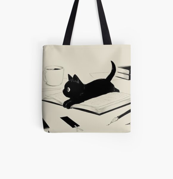 Little Cat All Over Print Tote Bag