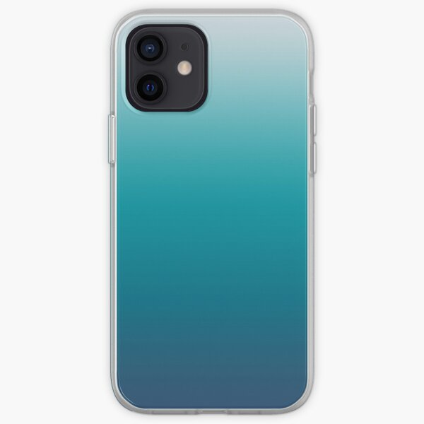 Pastel deep blue navy gray duotone sea ocean iPhone Soft Case