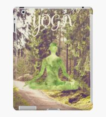 Yoga Forest Book iPad Case/Skin