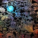 Skull Galaxy Collage by EthosWear