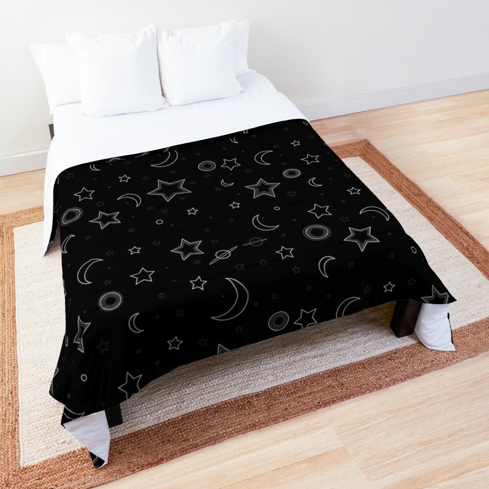 Moon and Stars Galaxy Comforter