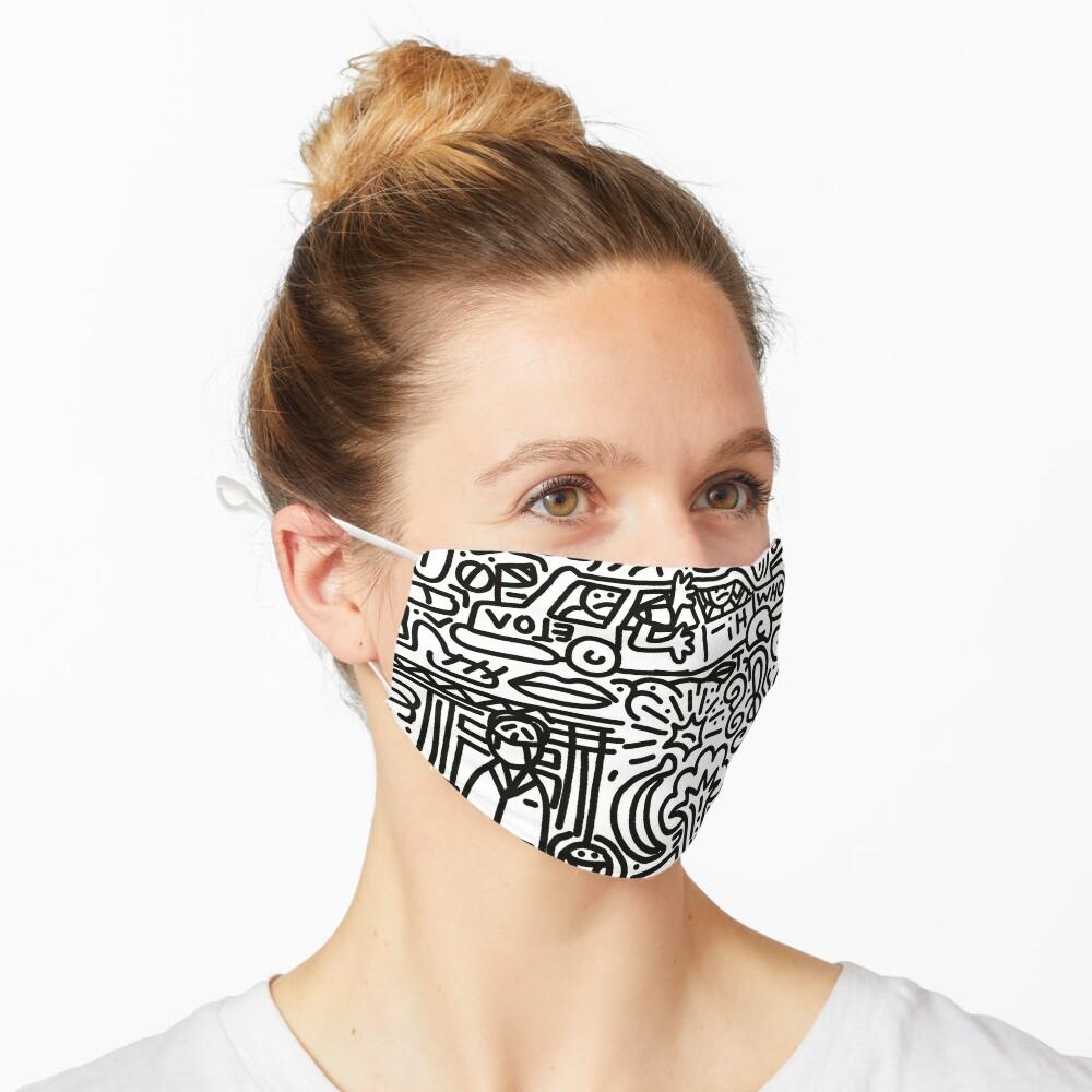 Famous impatient patient mask  Mask