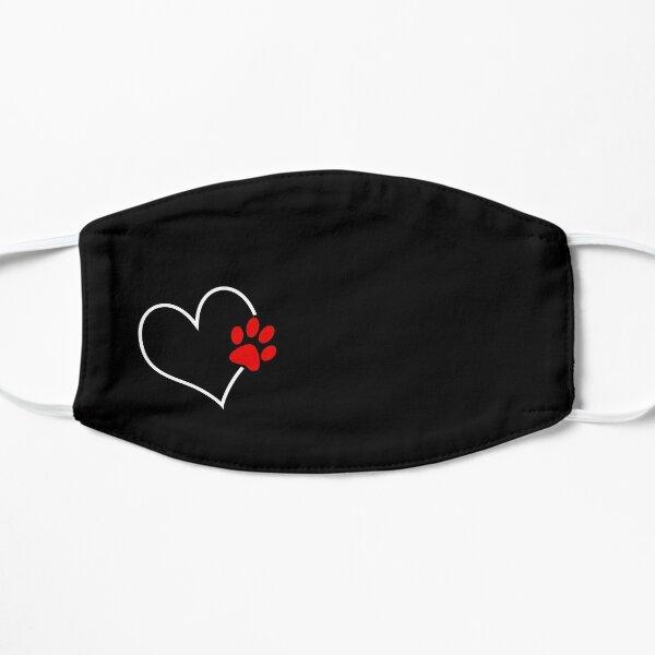 Paw on my heart mask Flat Mask