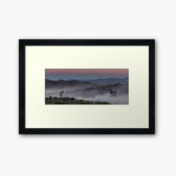 Desert Rally Sunset Landscape Framed Art Print