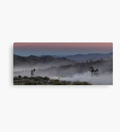 Desert Rally Sunset Landscape Canvas Print