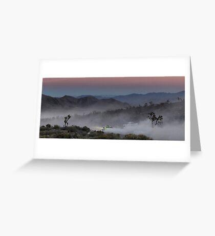 Desert Rally Sunset Landscape Greeting Card