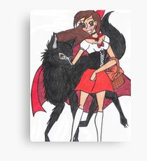 Red Riding Hood and Big Bad Wolf Canvas Print