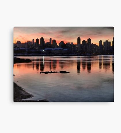 January Sunset Canvas Print