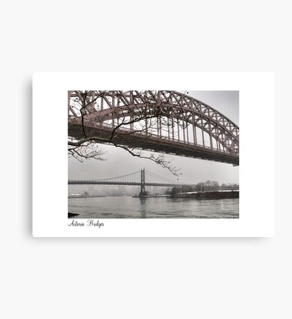 Astoria Bridges Canvas Print