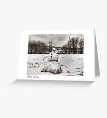 Astoria Snowman Greeting Card