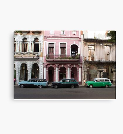 Three Wagons, Havana Canvas Print