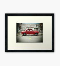 Red Car in Cojimar Framed Print