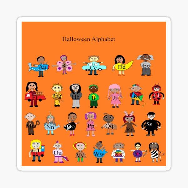 Halloween Costume Alphabet Sticker