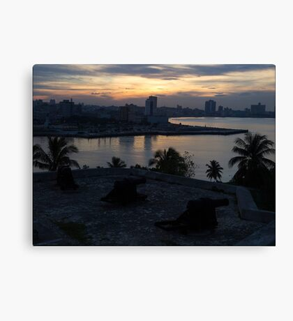 The Sun Also Sets Over Havana Canvas Print
