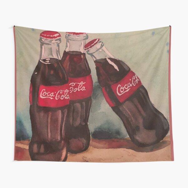 Vintage Coke Bottle Watercolor Tapestry