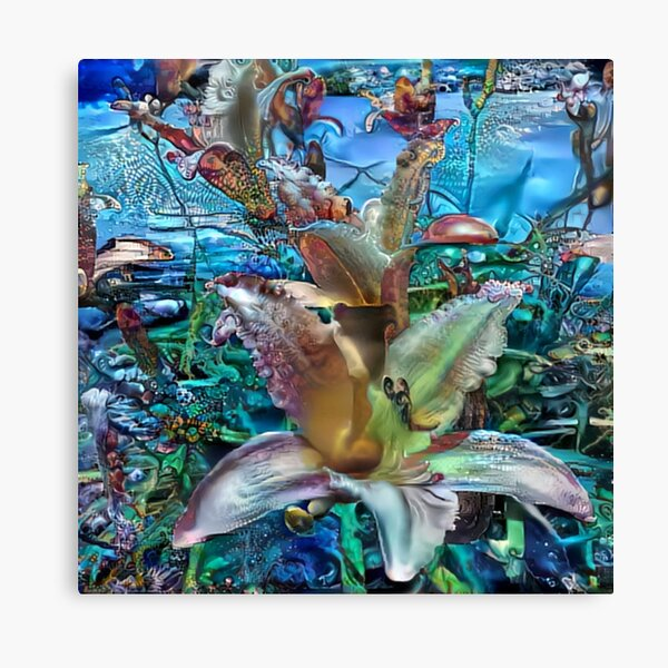 flowers under water Canvas Print