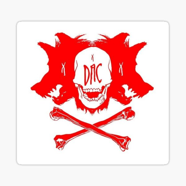 RED DAC WOLVES Sticker