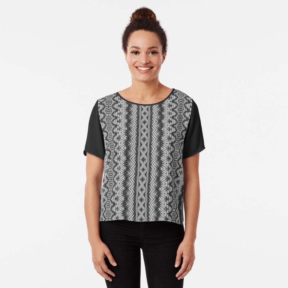 LaFara Crochet 2 Chiffon Top