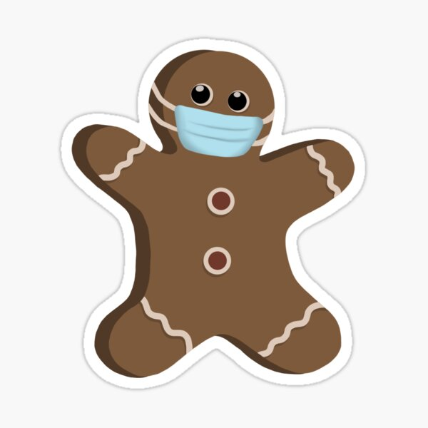 Gingerbread with a Mask  Sticker