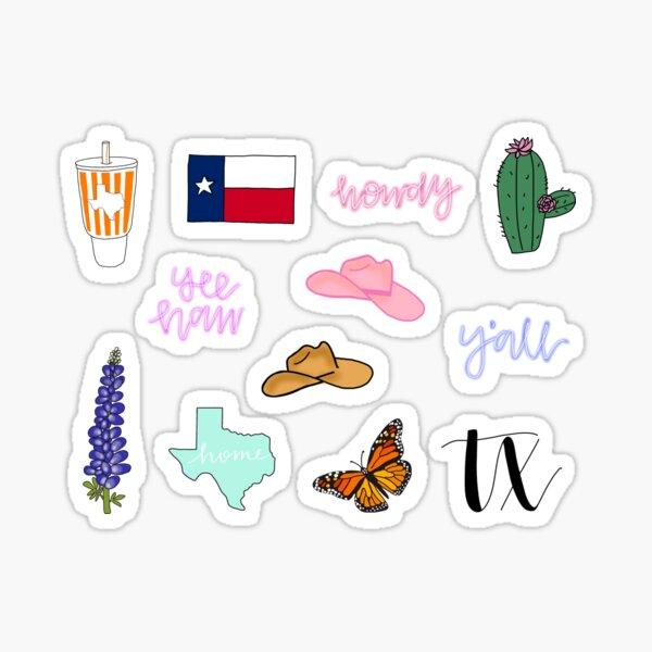 Texas theme sticker set pack Sticker