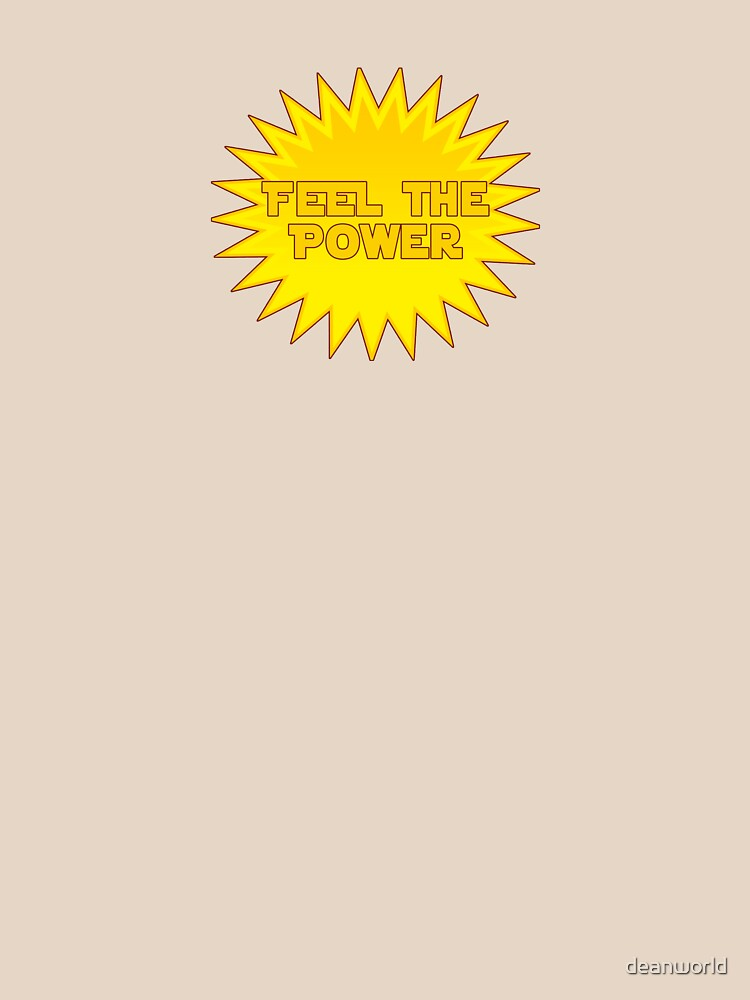 Solar energy feel the power sticker decal by deanworld