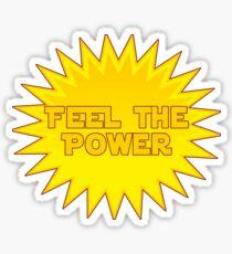 Solar Energy - Feel The Power - Sticker Decal Sticker