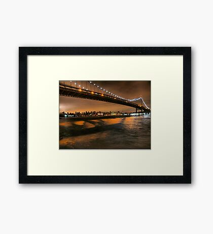 The Lights of the Triborough Bridge Framed Print