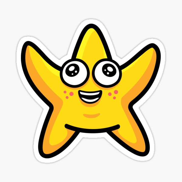 Happy Starfish Sticker
