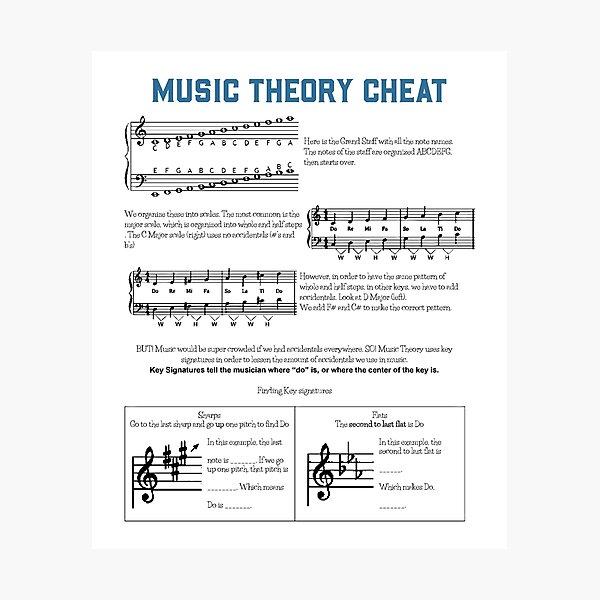Music Theory Photographic Print