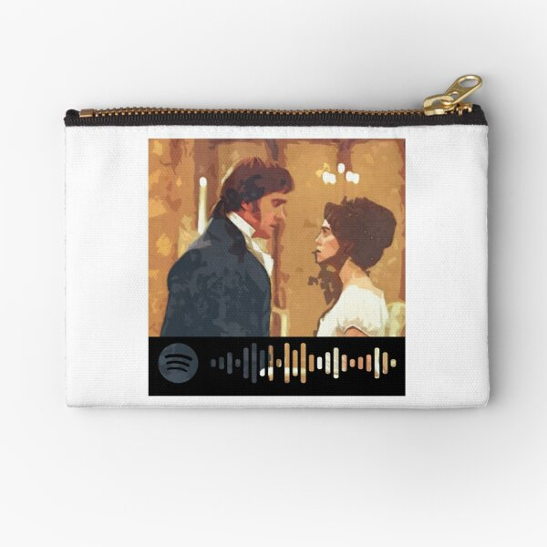 Pride and Prejudice Darcy and Lizzie Zipper Pouch