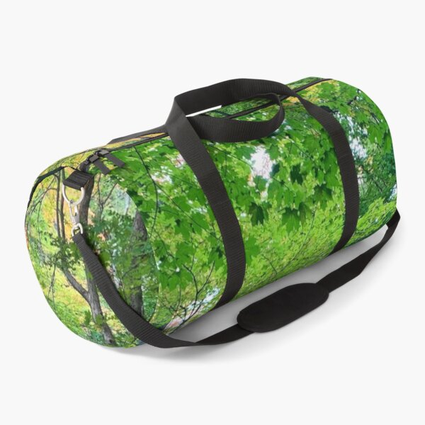 Lush green woods with an accent of autumn Duffle Bag
