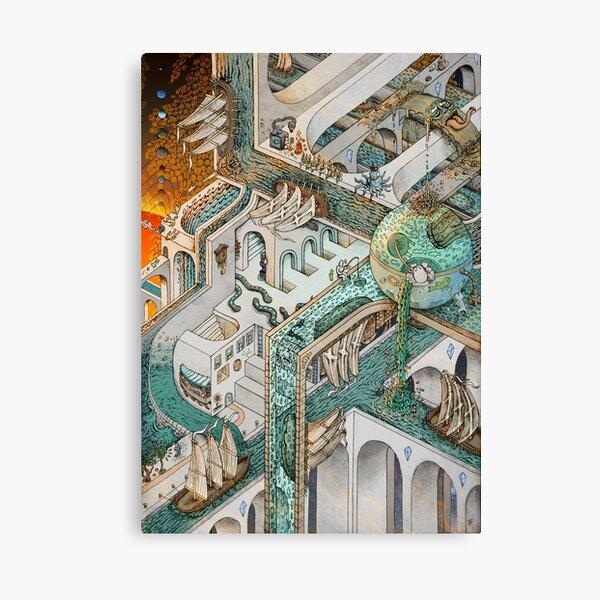 Fishing for Escher Canvas Print
