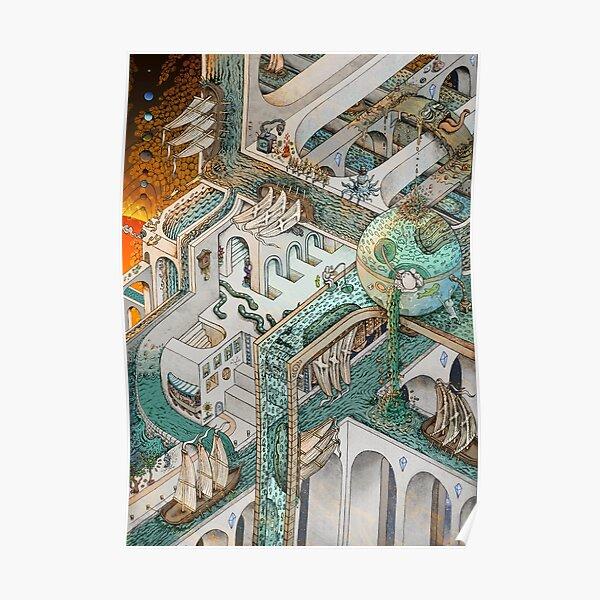 Pesca de Escher Póster