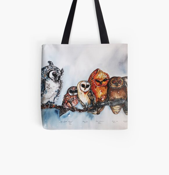 Southern African Owls, or the Branch of Wisdom All Over Print Tote Bag