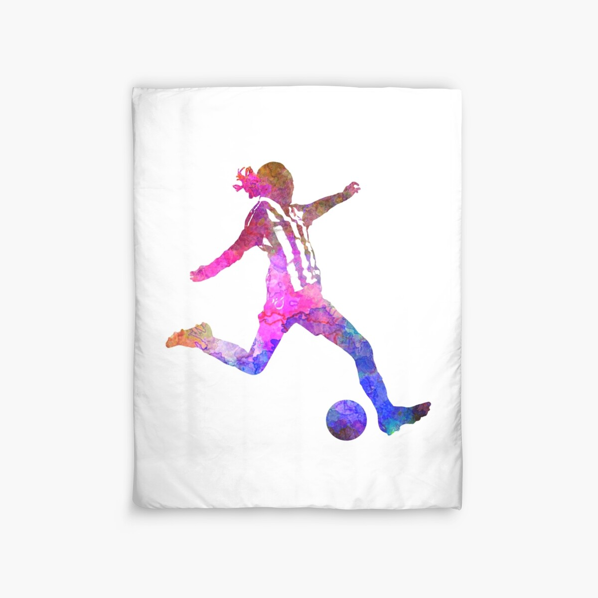 Quot Girl Playing Soccer Football Player Silhouette Quot Duvet