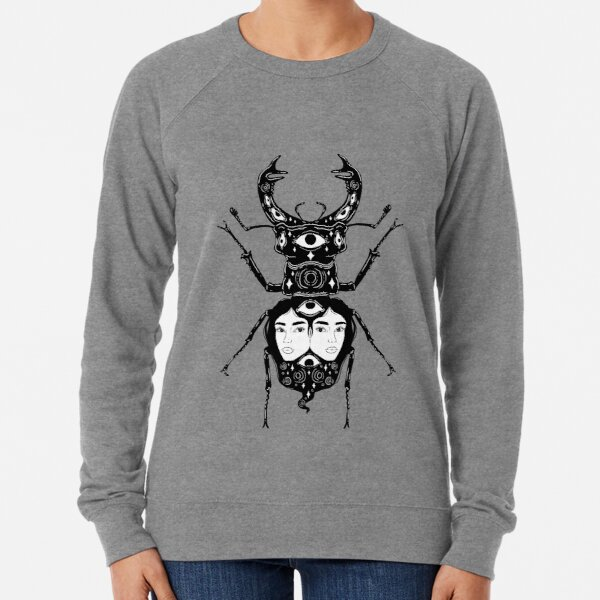Stag Beetle Twins Lightweight Sweatshirt