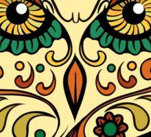 Owl Sugar Skull Day of The Dead design Sticker