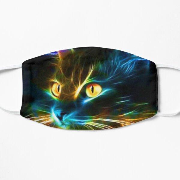 Rainbow Neon Cat Flat Mask