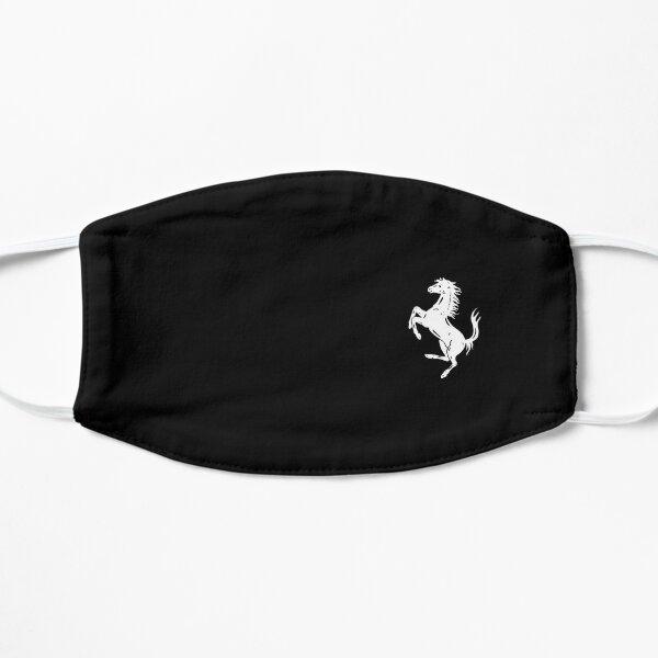 Ferrari small logo horse white Mask