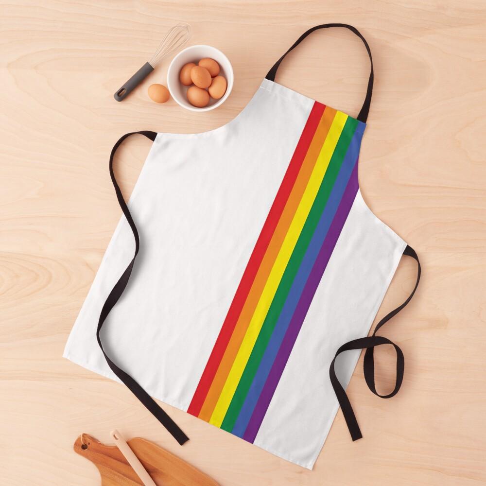 Rainbow Pride LGBT Strip  Apron