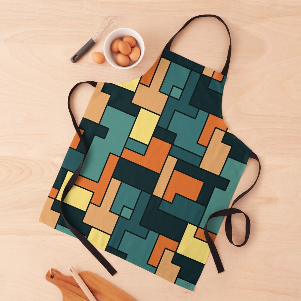 Square pattern Apron