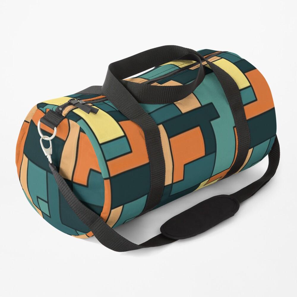Square pattern Duffle Bag