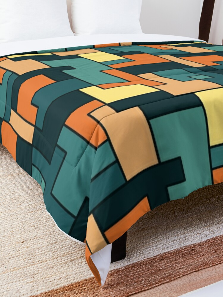Alternate view of Square pattern Comforter