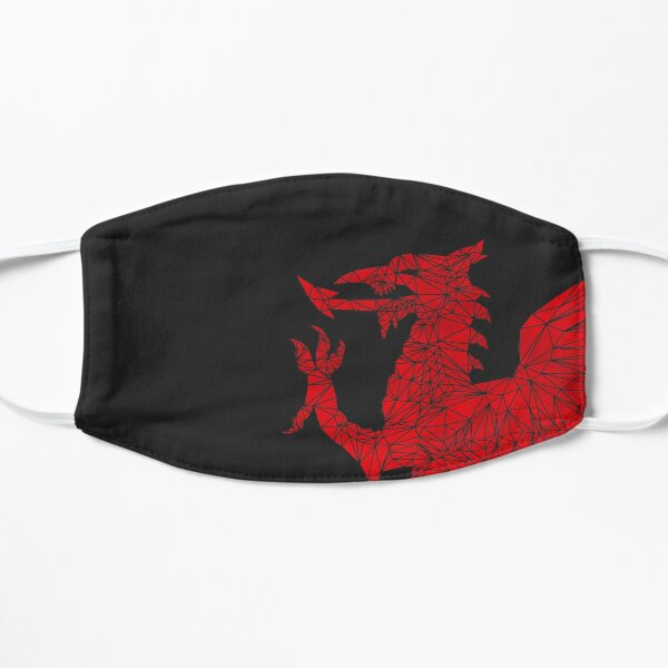Welsh Dragon - Geometric Flat Mask