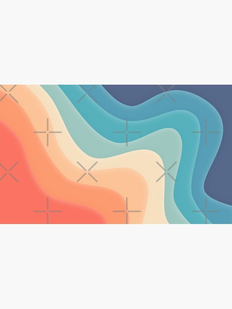 Retro color wave by WendyLeyten