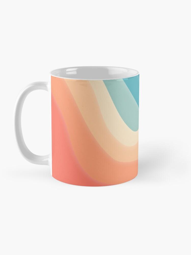 Alternate view of Retro color wave Mug