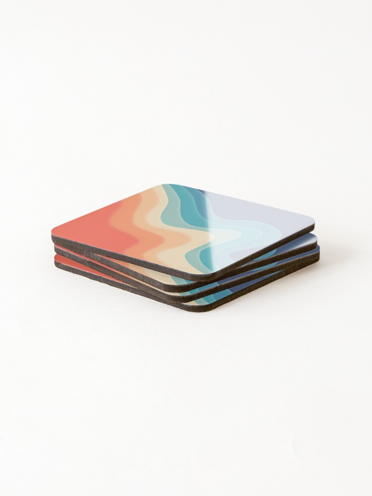 Alternate view of Retro color wave Coasters (Set of 4)