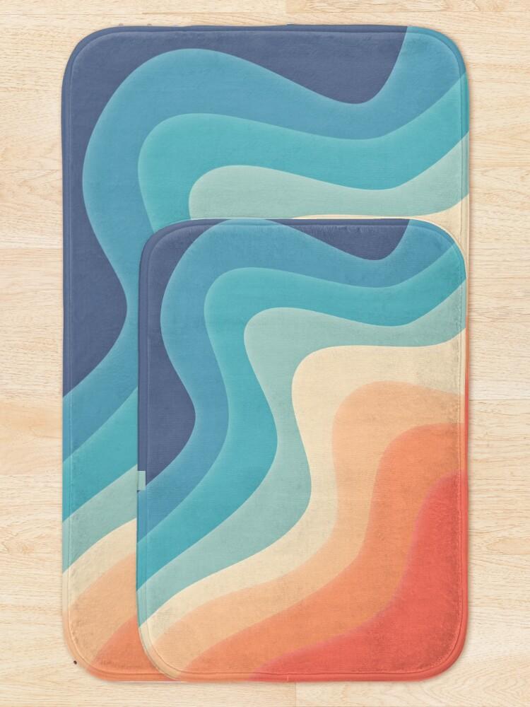 Alternate view of Retro color wave Bath Mat